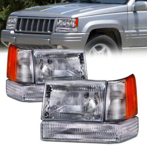 Headlights Corners Park signal 6 Pc Set Fits 97 1998 Jeep Grand Cherokee
