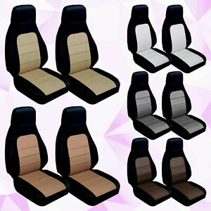 1990 1997 Mazda Miata Two Tone Front Set Of Seat Covers Choose Your Color Combo