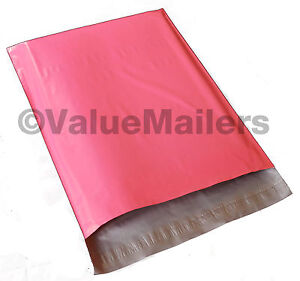 500 14x17 Pink Poly Mailers Shipping Envelope Couture Boutique Quality Pink Bags