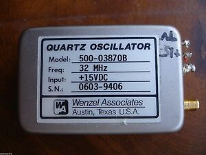 Wenzel Associates Quartz Oscillator 500 03870b 32 Mhz 15vdc Guaranteed