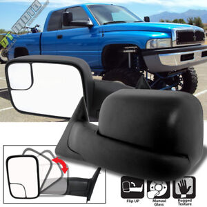 Left right 1994 2001 Dodge Ram 1500 94 02 2500 3500 Flip Up Manual Tow Mirrors