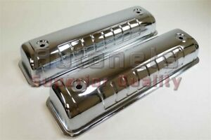 Chrome Steel Ford 54 64 Valve Covers Y Block 272 292 312 Tall Street Hot Rod V8