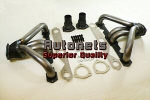 Raw Steel Street Hot Rat Rod Hugger Shorty Headers Small Block Chevy Sbc 265 350