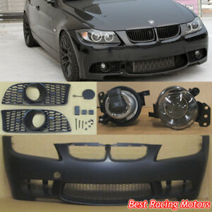M3 Style Front Bumper Glass Projector Fog Fit 05 08 Bmw E90 E91 4dr 3 Series