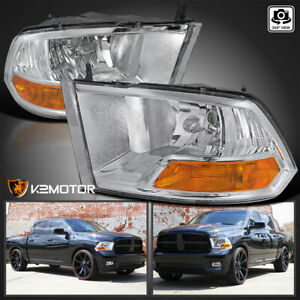 2009 2019 Dodge Ram 1500 2500 3500 Crystal Clear Headlights Head Lamp Left Right