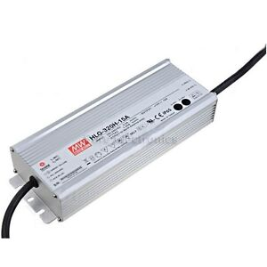 Mean Well Hlg 320h 15a 15v 19a Led Driver Waterproof Dimmable Outdoor