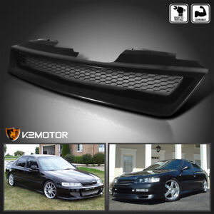 For 1994 1997 Honda Accord 2 4dr Black Mesh Style Front Hood Grille Abs 1pc