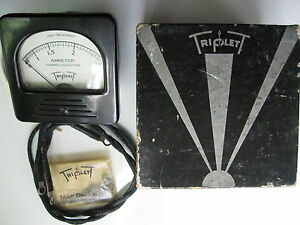 Vintage Triplett Hf Thermo couple Type 0 2 5 Amp Ammeter Gauge Panel Meter Nos