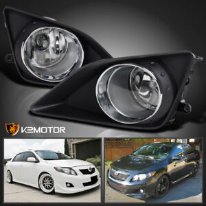 For 2009 2010 Toyota Corolla Clear Bumper Driving Fog Lights Switch Left Right