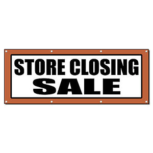 Store Closing Sale Promotion Business Sign Banner 2 X 4 W 4 Grommets