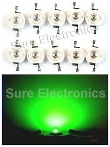 100pcs 3w 3watt High Power Green Led Beads Lamp Bulb Wholesale Diy