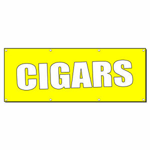 Cigars Promotion Business Sign Banner 3 X 6 W 6 Grommets
