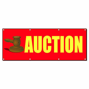 Auction Promotion Business Sign Banner 4 X 8 W 8 Grommets