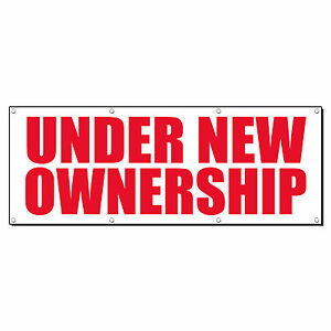 Under New Ownership Promotion Business Sign Banner 4 X 8 W 8 Grommets