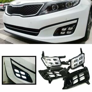 Kspeed 10w Led Daytime Running Light Lamps For 14 15 Kia Optima K5 W Drl Bezel
