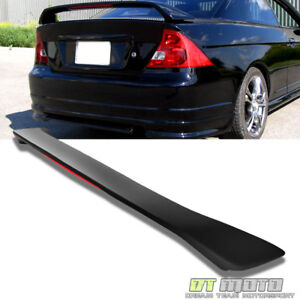 01 05 Honda Civic 2d 2dr Coupe Rear Trunk Spoiler Primer Led Brake Matte Black