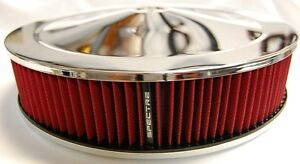 Spectre Chrome Air Cleaner K n Type Red Filter 9x2 47708 fast Free Usps