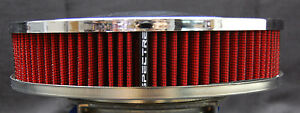 Spectre Performance Racing Chrome Air Cleaner Washable Filter 9 X 2 47708
