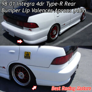 Tr Style Rear Bumper Aprons abs Fits 98 01 Acura Integra 4dr