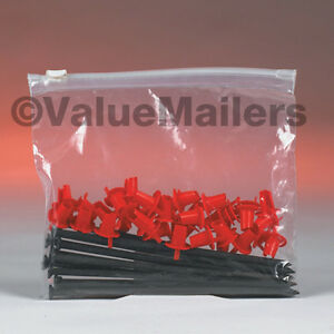 100 5x7 Clear Plastic Slide Seal Zipper Poly Locking Reclosable Bags 3 Mil