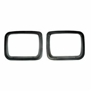 New Pair Black Headlight Bezels For Jeep Wrangler Yj 1987 To 1995 X 12419 24