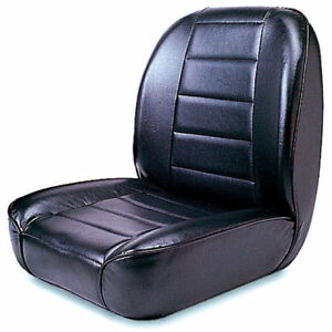 For Jeep Cj 55 86 New Low Back Front Bucket Seat Black X 13400 01