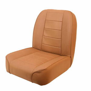 Jeep Cj 55 86 New Low Back Front Bucket Seat Tan X 13400 04