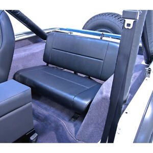 Jeep Wrangler Cj Yj 55 95 New Fixed Rear Seat Black X 13461 01