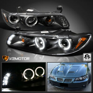 1997 2003 Pontiac Grand Prix Led Halo Projector Headlights Black Left Right