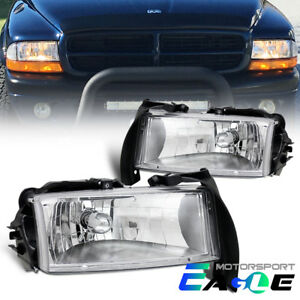 factory Style 1997 2004 Dodge Dakota 1998 2003 Durango Chrome Headlights Pair