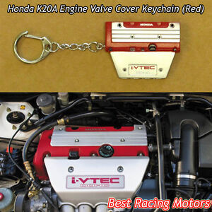 K20a Engine Valve Cover Style Keychain red Fits Honda