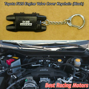 Fa20 Engine Valve Cover Style Keychain Black Fits Toyota
