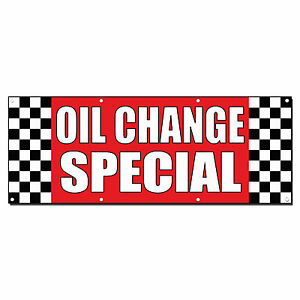Oil Change Special Auto Body Shop Car Repair Banner Sign 2 X 4 w 4 Grommets
