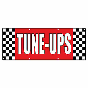 Tune ups Auto Body Shop Car Repair Banner Sign 3 Ft X 6 Ft w 6 Grommets