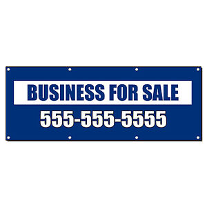 Business For Sale Custom Phone Banner Sign 4 Ft X 2 Ft w 4 Grommets