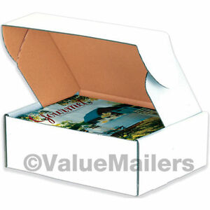 50 14 X 14 X 4 White Front Tab Lock Protective Shipping Mailer Box Boxes