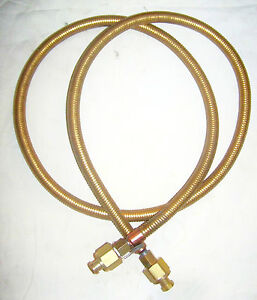 Hydro test 560 016 Nos Fire Hose Assembly 72 L 3 4 12 Swivel Fittings 1 4 Npt