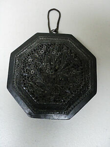Rare Antique Chinese Bronze Feng Shui Lon Pon Compass Intricate Carvings
