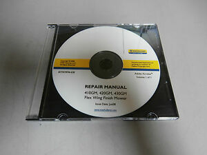 New Holland 410gm 420gm 430gm Flex Wing Finish Mower Repair Manual Cd Disc