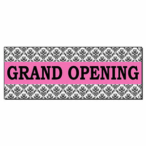 Grand Opening Pink Business Advertisement 2 Ft X 4 Ft Banner Sign W 4 Grommets