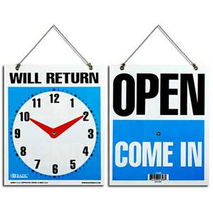 Will Return Clock Sign With Open On The Back Side 7 5 X 9 Lot Of 48