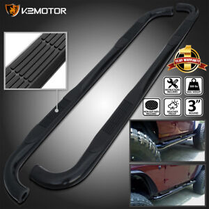 Fits 2001 2003 Ford F150 Supercrew Cab 3 Black S s Running Boards Side Step Bar