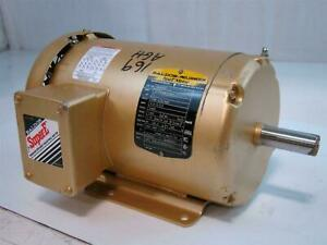 Baldor Reliance Super E Motor 2hp 208 230 460v 5 3 5 2 5amps 3490rpm 3ph Em3555t