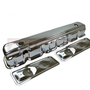 62 74 Chevy 194 230 250 292 Straight 6 Cyl Chrome Valve Cover W Side Plates