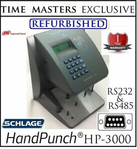 Refurbished Schlage Handpunch Hp3000 Rs232 485 Biometric W 100 Employee Software