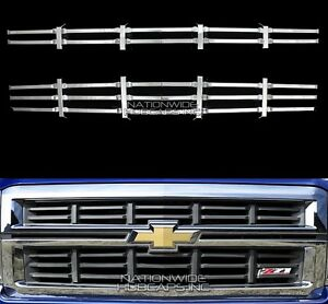 14 15 Chevy Silverado 1500 Z71 Chrome Snap On Grille Overlay Grill Cover Inserts