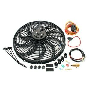 High Cfm Electric Curved S Blade 16 Radiator Cooling Fan W Wiring Harness Kit