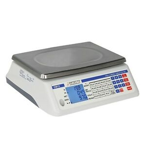 Detecto Price Computing Scale Electronic 13 4 W X 13 4 D 240 Ounce Capacity