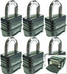 Combination Lock Set By Master 1178d lot 6 Resettable Weather Sealed Carbide