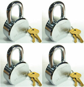 Lock Set By Master 6230ka lot Of 4 Keyed Alike Solid Steel Extreme Security